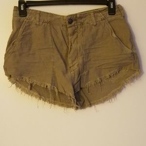 FP Sexy Highrise Button-Fly Khaki Shorts